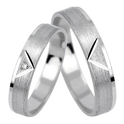 Abel White - snubní prstýnky z bílého zlata