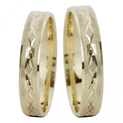 Adriatica - snubní prsteny ze žlutého zlata