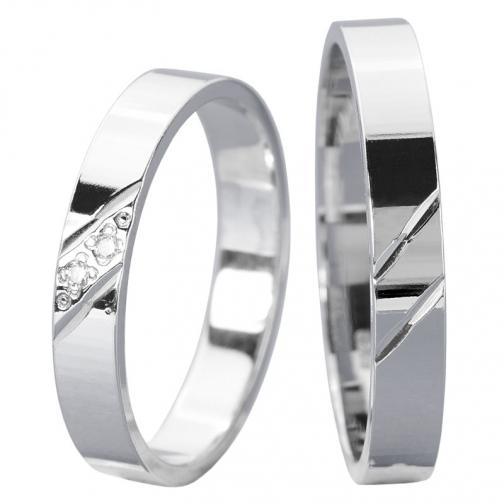 Akim White  - jemné snubní prstýnky z bílého zlata