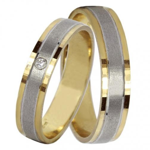 Adonis Colour GW - snubní prsteny ze žlutého a bílého zlata