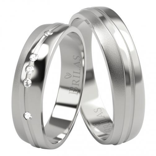 Dimitra White - snubní prstýnky z bílého zlata