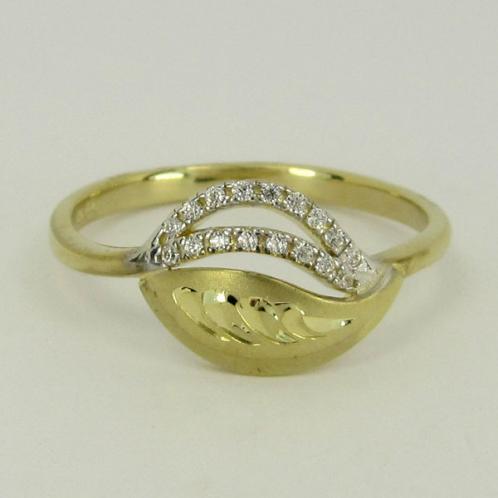 Zlatý prsten se zirkony Z70-224