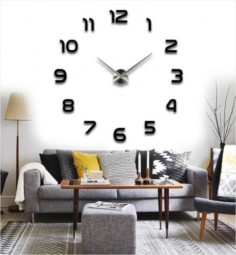 3D Nalepovací nástěnné hodiny - 12S002