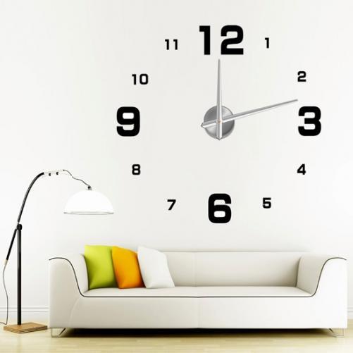 3D Nalepovací nástěnné hodiny - 12S005