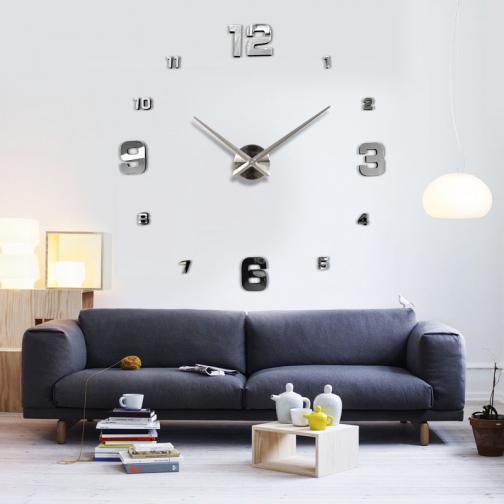 3D Nalepovací nástěnné hodiny - 12S005-S