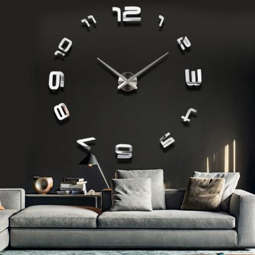 3D Nalepovací nástěnné hodiny - 12S008-S