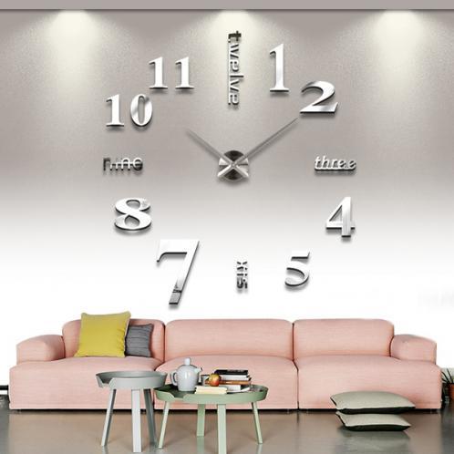 3D Nalepovací nástěnné hodiny - 12S015-S