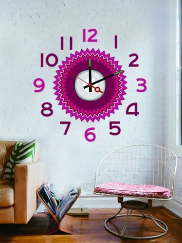 Nalepovací nástěnné hodiny - 10A212