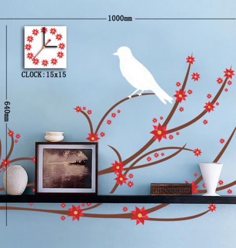 Nalepovací nástěnné hodiny - 15A026