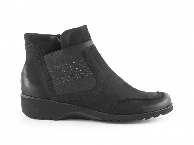 Ara - Dámské kotníkové nubukové boty se zipem šíře H 12-42730-71