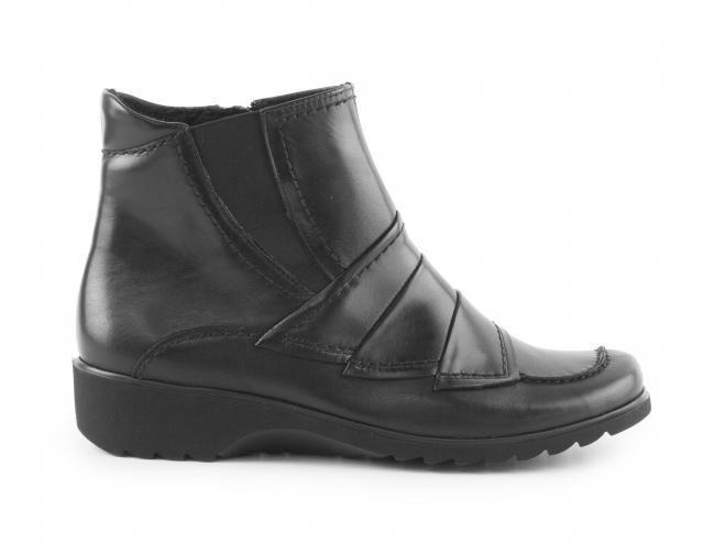 Ara - Dámské kotníkové boty se zipem a přehyby šíře H 12-42758-61