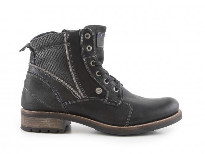 s.Oliver - Pánské zimní kotníkové boty se zipem a šněrováním 5-15205-27