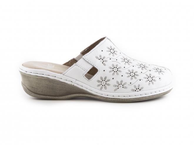 Caprice - Dámské uzavřené pantofle na klínku/podpatku šíře H 9-27350-28