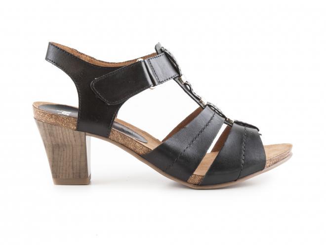 Caprice - Dámské páskové sandály na podpatku šíře G 9-28309-28
