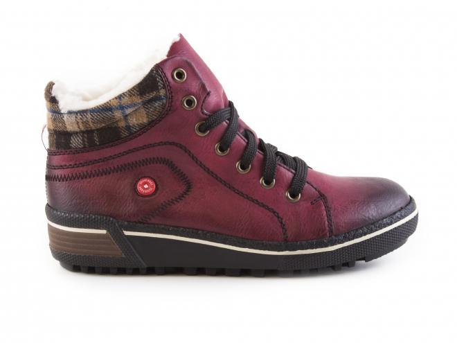 Rieker - Dámské zimní kotníkové boty na rovné podešvi s kožichem šíře G  Z6423-35 a314fbcf97