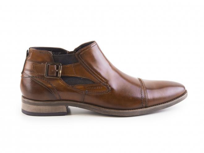 Bugatti - Pánské módní boty ke kotníku se zipem a pérkem 311-16421-2500