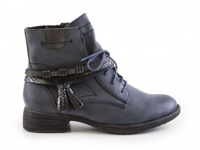 Jana - Dámské polokozačky s pásky kolem boty šíře H 8-25208-29