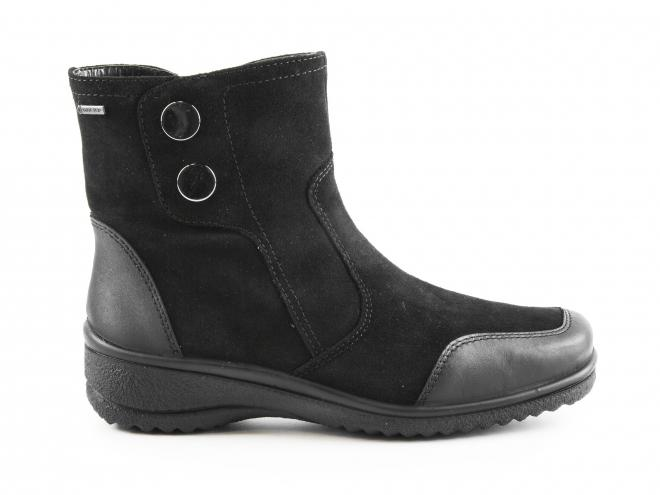 Ara - Dámské kožené kotníkové boty na klínku s TEXovou membránou šíře H 12-48548-61