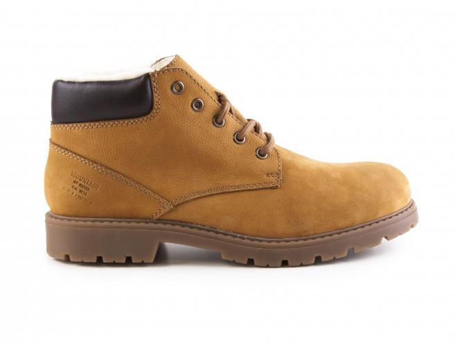 Rieker - Pánské kožené kotníkové boty se šněrováním a ovčí vlnou F4020-24