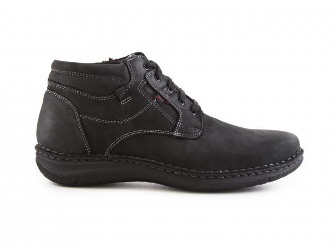 Josef Seibel - Pánské kožené zateplené kotníkové boty šíře K 43340 Anvers 35