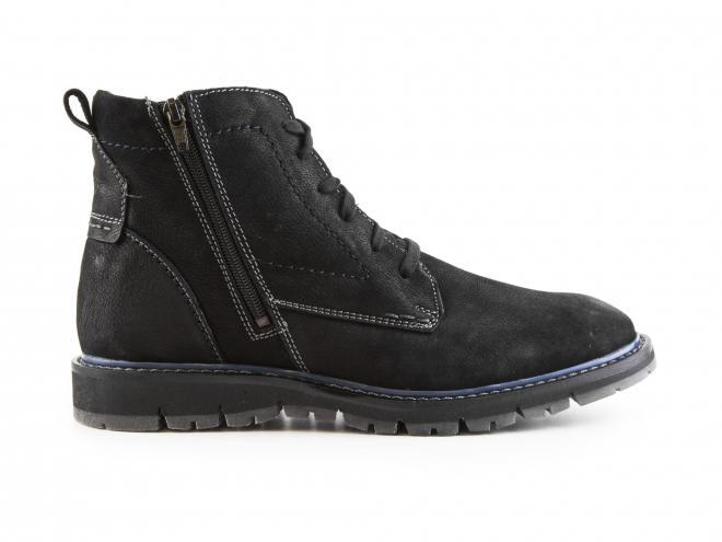 Josef Seibel - Pánské kožené zateplené kotníkové boty se dvěma zipy 48501 Elias 01