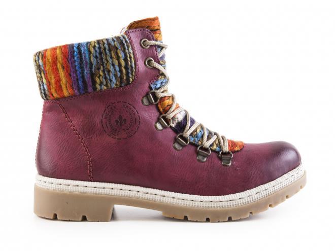 Rieker - Dámské kotníkové zateplené boty s pleteninou 0b784d3d49