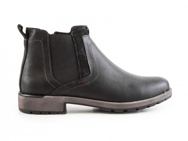 Ara - Pánské kožené kotníkové boty s pérkem, se zateplením a zipem 11-16401-01