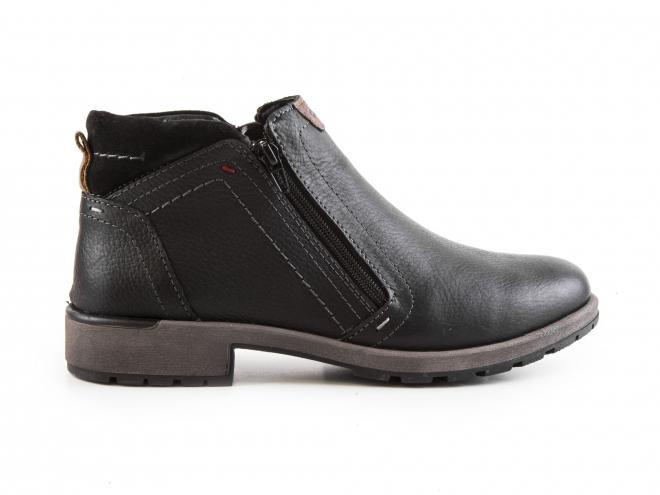 Ara - Pánské kožené kotníkové boty se zateplením a dvěma zipy 11-16403-01