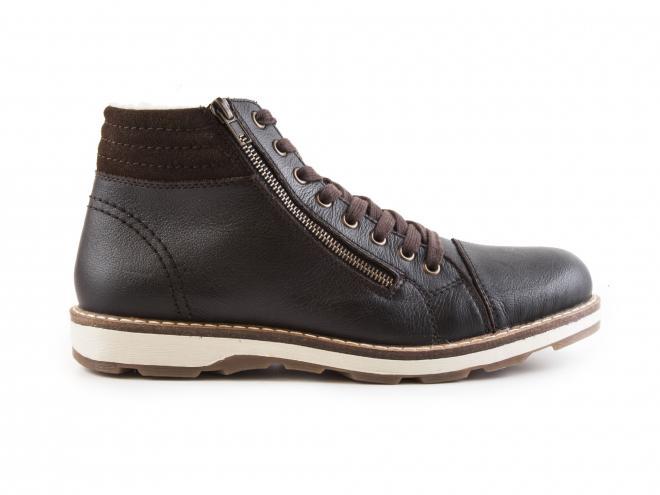 Rieker - Pánské zimní kotníkové boty se dvěma zipy a šněrováním 30311-25