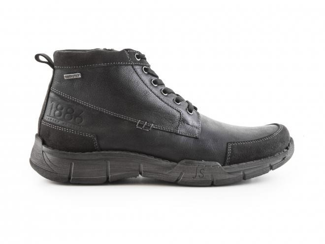 Josef Seibel - Pánské kožené kotníkové zateplené boty se zipem a TEXovou membránou 26553 Phil 03