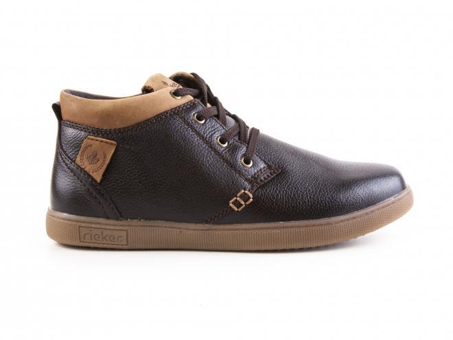 Rieker - Pánské kožené kotníkové módní boty se šněrováním F9931-25