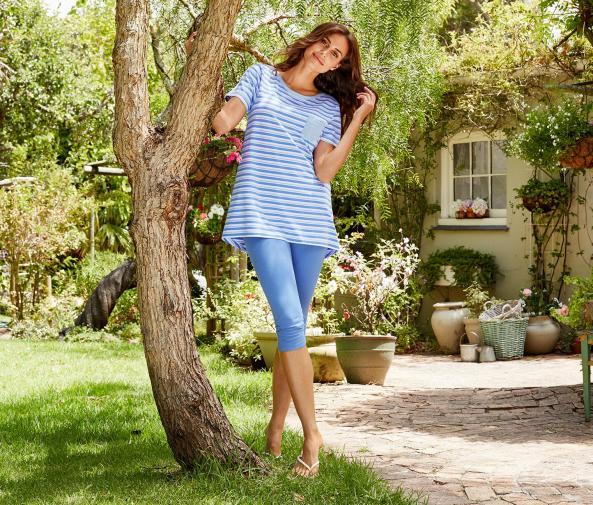 Pyžamo, modro-bílé