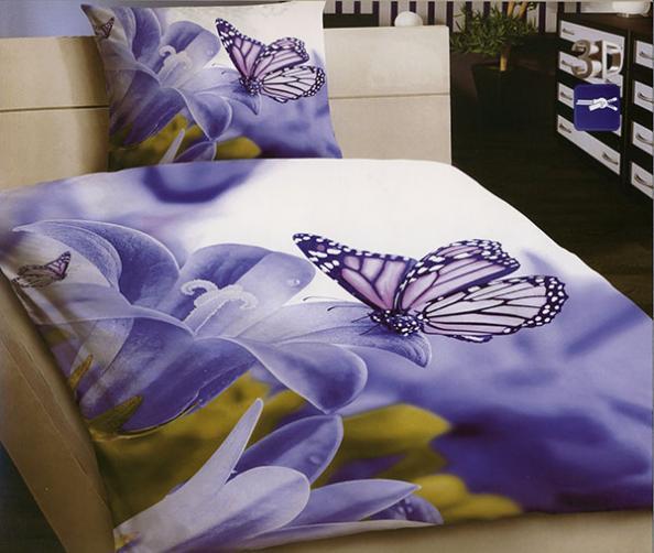 3D povlečení 140x200 + 70x90 - Motýl