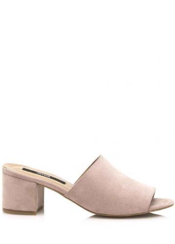 Béžové pantofle na podpatku MTNG 41