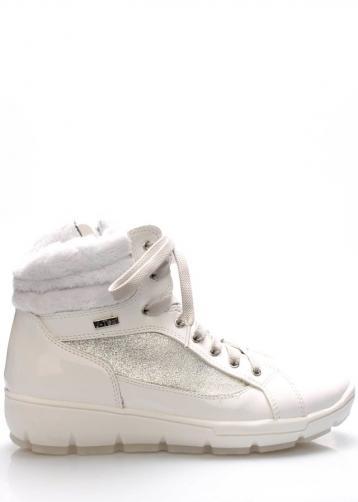 Bílé italské zimní boty M&G 37