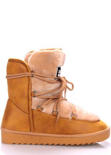Béžové boty s kožíškem D.Franklin 41