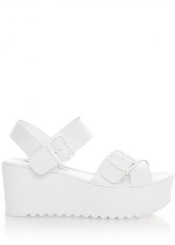 Bílé sandály na platformě MTNG 40