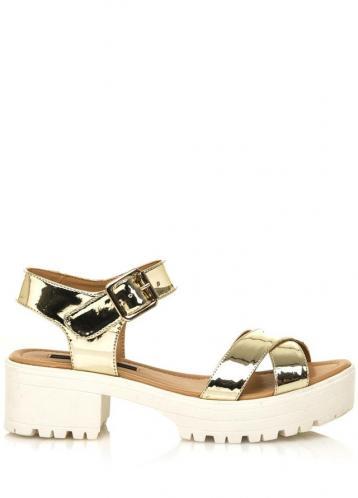 Zlaté sandály na rozdělené platformě MTNG 41