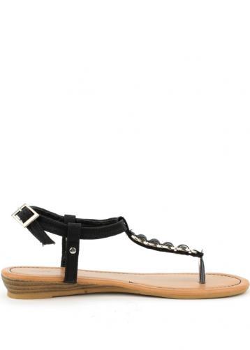Sandále s hadím páskem Claudia Ghizzani černé 38