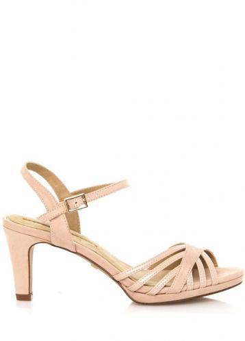 Béžové sandály na nízkém podpatku Maria Mare 39