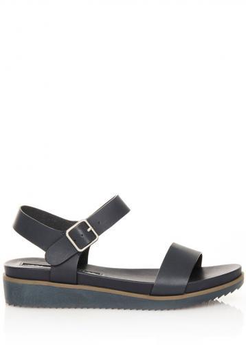 Tmavě modré sandálky na klínku MARIA MARE 40