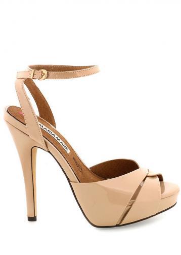 Béžové sandály na vysokém podpatku MARIA MARE 35