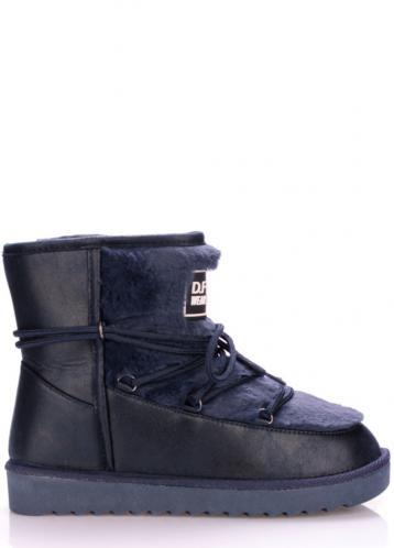 Tmavě modré boty s kožíškem D.Franklin 41