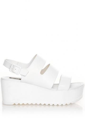 Bílé sandály s platformou MTNG 40