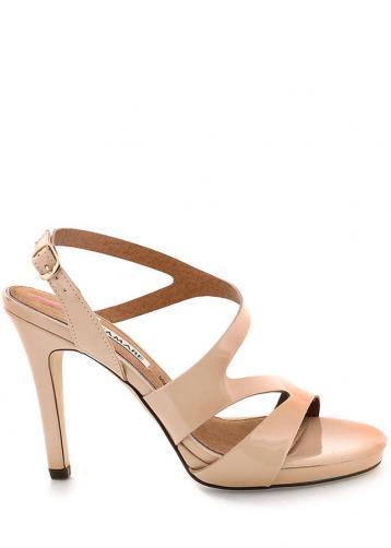 Béžové sandály na podpatku MARIA MARE 35