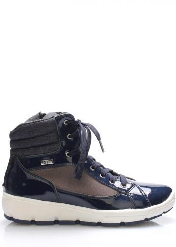 Tmavě modré italské zimní boty M&G 41