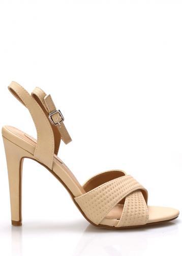 Béžové sandály na podpatku Trendy too 41