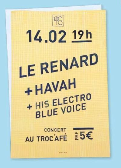 HIS ELECTRO BLUE VOICE + LE RENARD + HAVAH