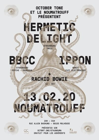 HERMETIC DELIGHT + IPPON + BBCC + RACHID BOWIE