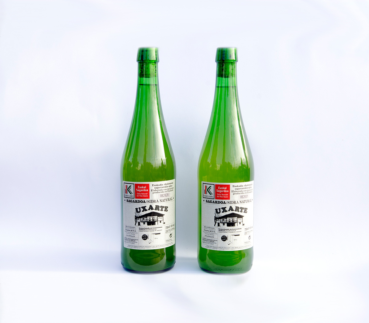 Sidra natural label Uxarte